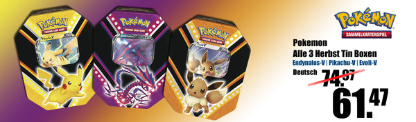 Pokemon Herbst Tin Box 3er Set