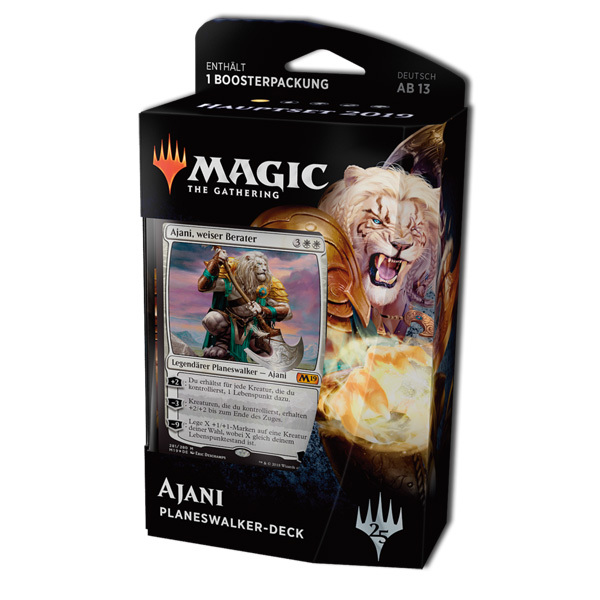 Magic the Gathering Core 2019 Planeswalker Deck Ajani - Weiser Berater (deutsch)