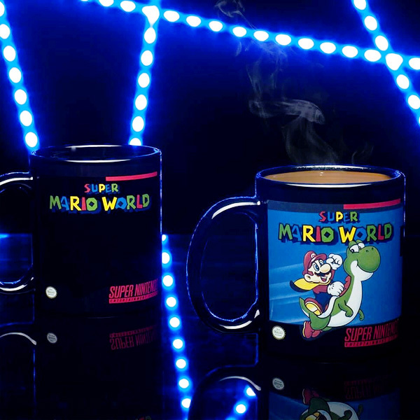 SNES Super Nintendo Mario World Farbwechsel Becher 300ml