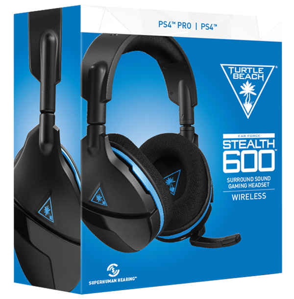 Turtle Beach Stealth 600 Weiß Kabelloses Surroundsound Gaming-Headset für PS4 und PS4 Pro