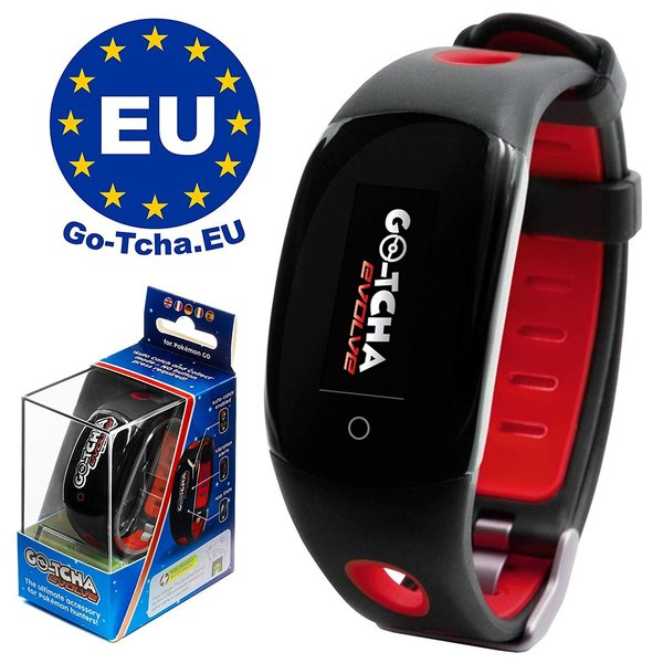 Go-Tcha Evolve 2020 LED-Touch-Armband Pokéball- Rot Edition für Pokémon Go