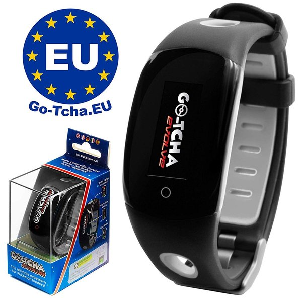 Go-Tcha Evolve 2020 LED-Touch-Armband Pokéball - BLACK Edition für Pokémon Go