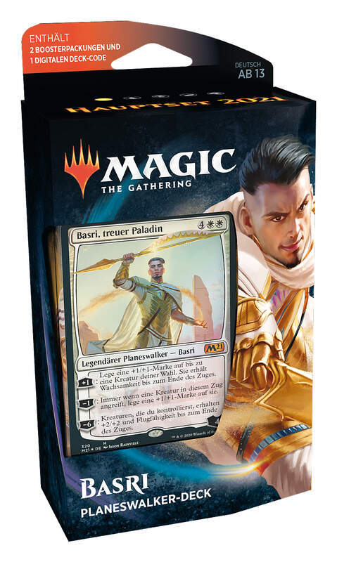 "Magic MTG Hauptset 2021 Planeswalker Deck  ""Basri"" (deutsch)"
