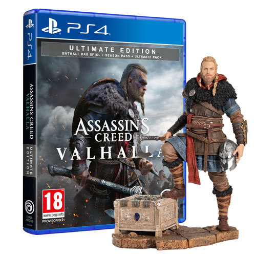 Assassin's Creed Valhalla Ultimate Edition + Eivor Wolfsmal Figur - PlayStation 4