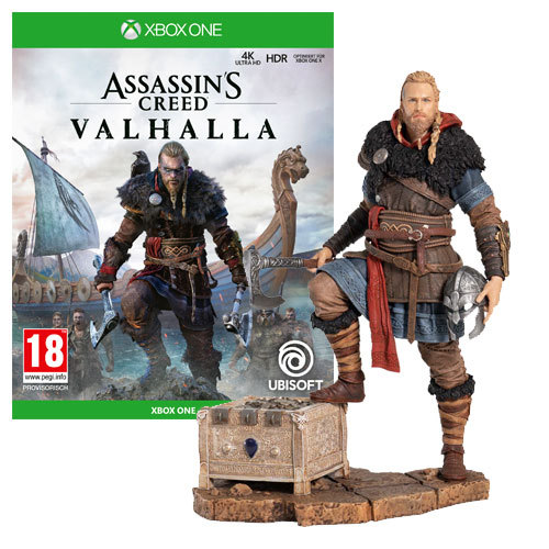 Assassin's Creed Valhalla Standard Edition +  Eivor Wolfsmal Figur - XBOX ONE