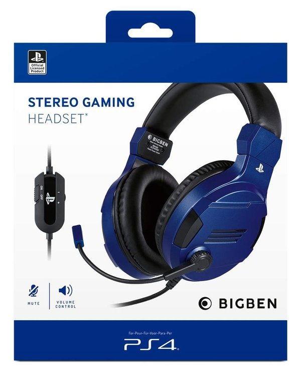 Stereo Headset V3  blue [Offizielle Playstation Lizenz] - PlayStation 4