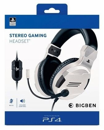 Stereo Headset V3  white [Offizielle Playstation Lizenz] - PlayStation 4