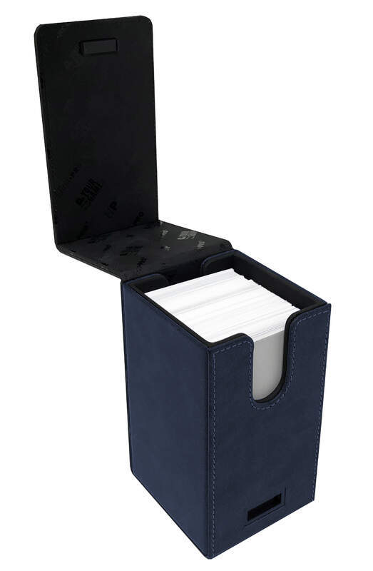 Sapphire Suede Alcove Tower Deck Box