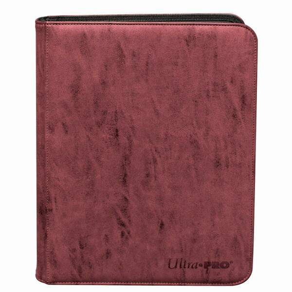 Ruby Suede 9-Pocket Zip PRO-Binder