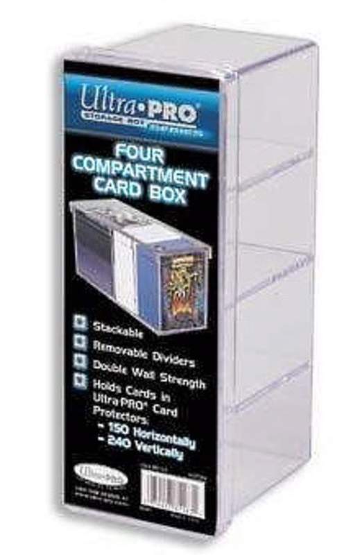 4-Compartment Card Box - Clear
