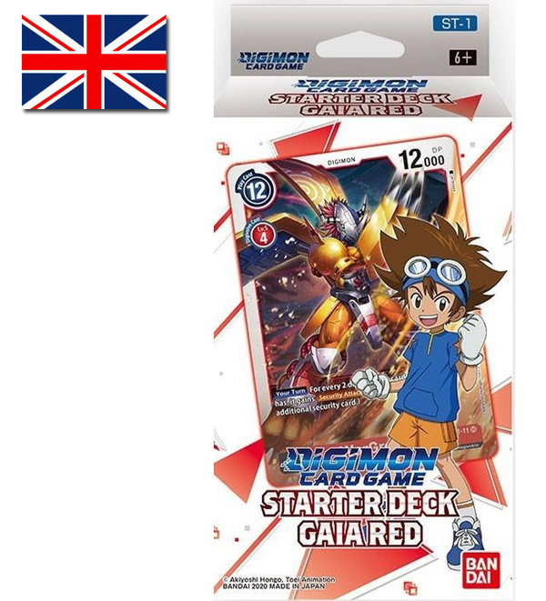 Digimon Card Game: Starter Deck Gaia Red | ST-1 (EN)