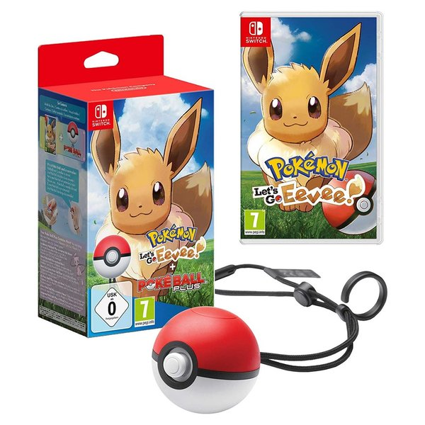 Pokémon: Let´s Go, Évoli!+ Pokéball Plus  -  Nintendo Switch