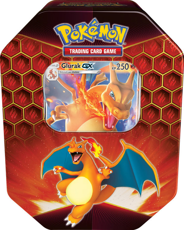 Pokemon Verborgenes Schicksal Tin Box #79 Glurak GX (deutsch)