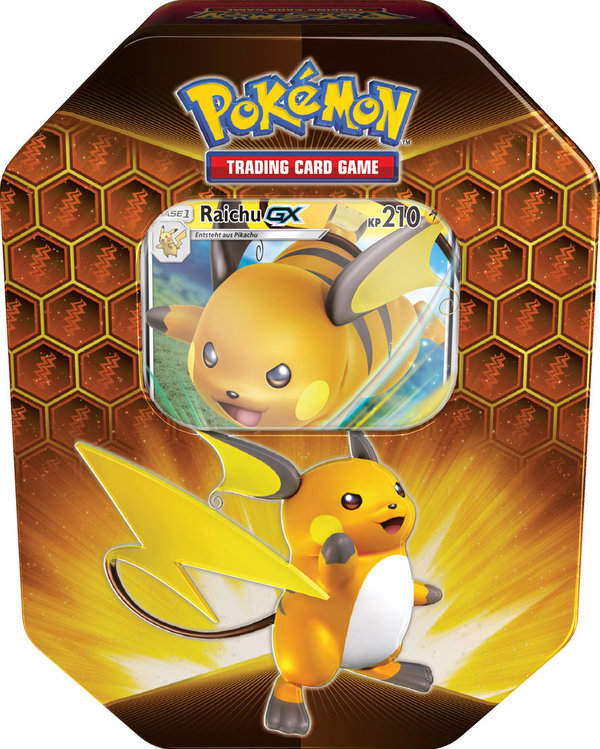 Pokemon  Verborgenes Schicksal Tin Box #80 Raichu GX (deutsch)