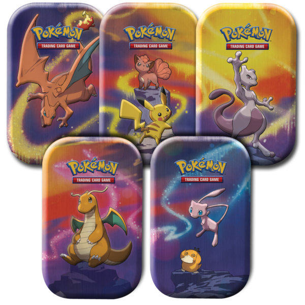 Pokemon Kanto-Stärke Mini-Tin-Box 5er Set - deutsch